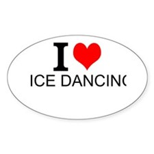 I Love Ice Dancing Decal