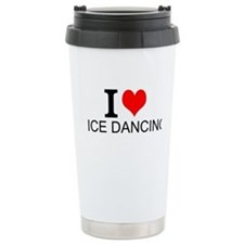 I Love Ice Dancing Travel Mug