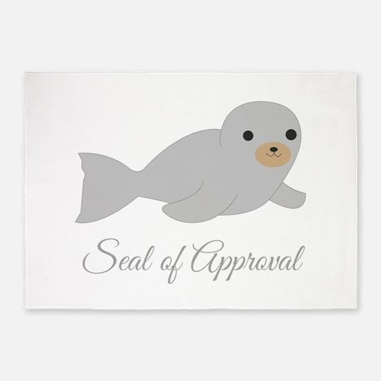 Seal Of Approval 5'x7'Area Rug