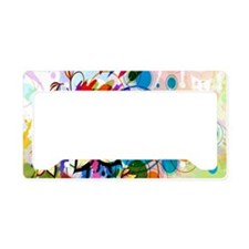 Flower Abstract License Plate Holder