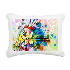 Flower Abstract Rectangular Canvas Pillow