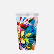 Flower Abstract Acrylic Double-wall Tumbler