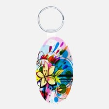 Flower Abstract Keychains