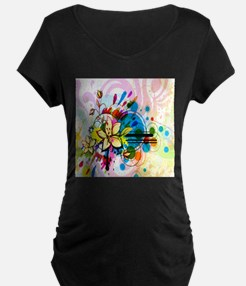 Flower Abstract Maternity T-Shirt