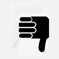 Thumbs down Greeting Cards