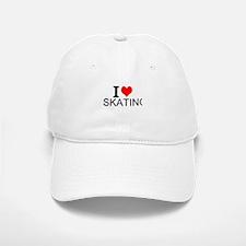 I Love Skating Baseball Baseball Baseball Cap