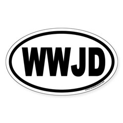 WWJD Oval Decal