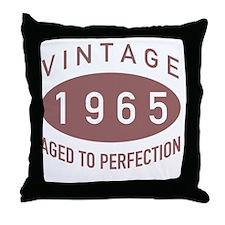 1965 Vintage Throw Pillow