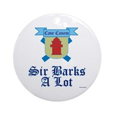 Sir Barks A lot Ornament (Round)