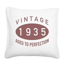 1935 Vintage Square Canvas Pillow