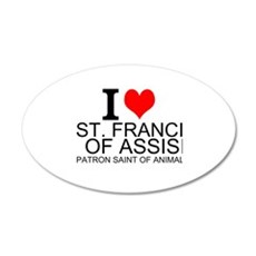 I Love St. Francis of Assisi Wall Decal