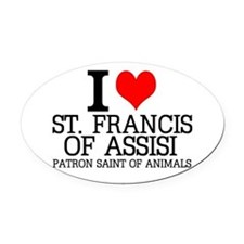 I Love St. Francis of Assisi Oval Car Magnet
