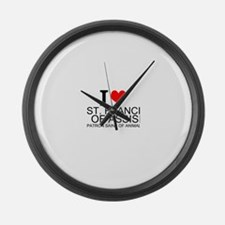 I Love St. Francis of Assisi Large Wall Clock