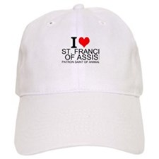 I Love St. Francis of Assisi Baseball Baseball Cap