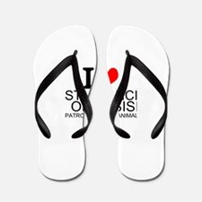 I Love St. Francis of Assisi Flip Flops