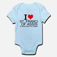 I Love St. Francis of Assisi Body Suit
