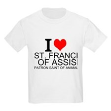 I Love St. Francis of Assisi T-Shirt