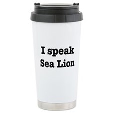 Funny Sea lion Travel Mug