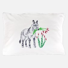 BURRO EATING OCOTILLO Pillow Case