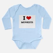 I Love Monkeys Body Suit