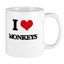I Love Monkeys Mugs