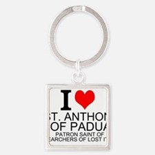 I Love St. Anthony of Padua Keychains