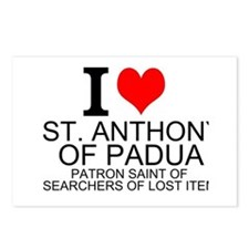 I Love St. Anthony of Padua Postcards (Package of