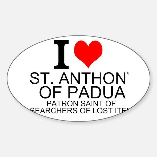 I Love St. Anthony of Padua Decal