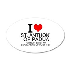 I Love St. Anthony of Padua Wall Decal