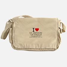 I Love St. Anthony of Padua Messenger Bag