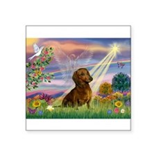 "Unique Dachshund Square Sticker 3"" x 3"""