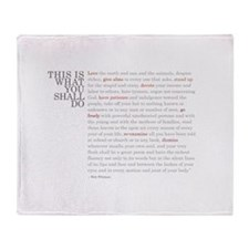 Cool Quote it Throw Blanket