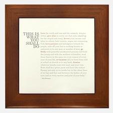 Unique Inspirational quotes Framed Tile
