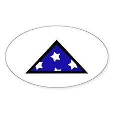 FOLDED AMERICAN Bumper Stickers