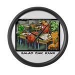 Salad Bar Exam Large Wall Clock