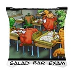 Salad Bar Exam Woven Throw Pillow