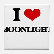 I Love Moonlight Tile Coaster