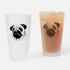Unique Pugs Drinking Glass