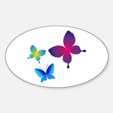 Colorful Buttlerflies Decal