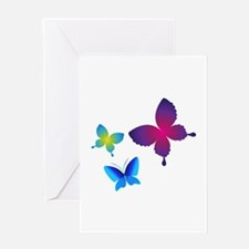 Colorful Buttlerflies Greeting Cards
