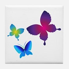 Colorful Buttlerflies Tile Coaster