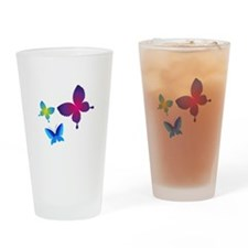 Colorful Buttlerflies Drinking Glass