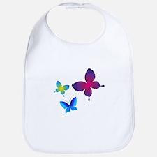 Colorful Buttlerflies Bib