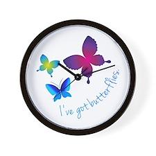 Ive Got Butterflies Wall Clock