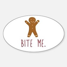 Grouchy Gingerbread Decal