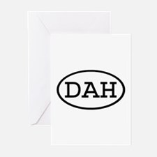 DAH Oval Greeting Cards (Pk of 10)