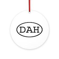 DAH Oval Ornament (Round)