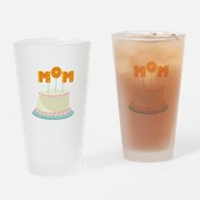 Mom Cake Drinking Glass