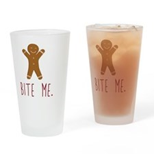 Grouchy Gingerbread Drinking Glass