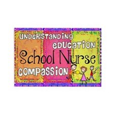 Cute School nursing Rectangle Magnet (10 pack)